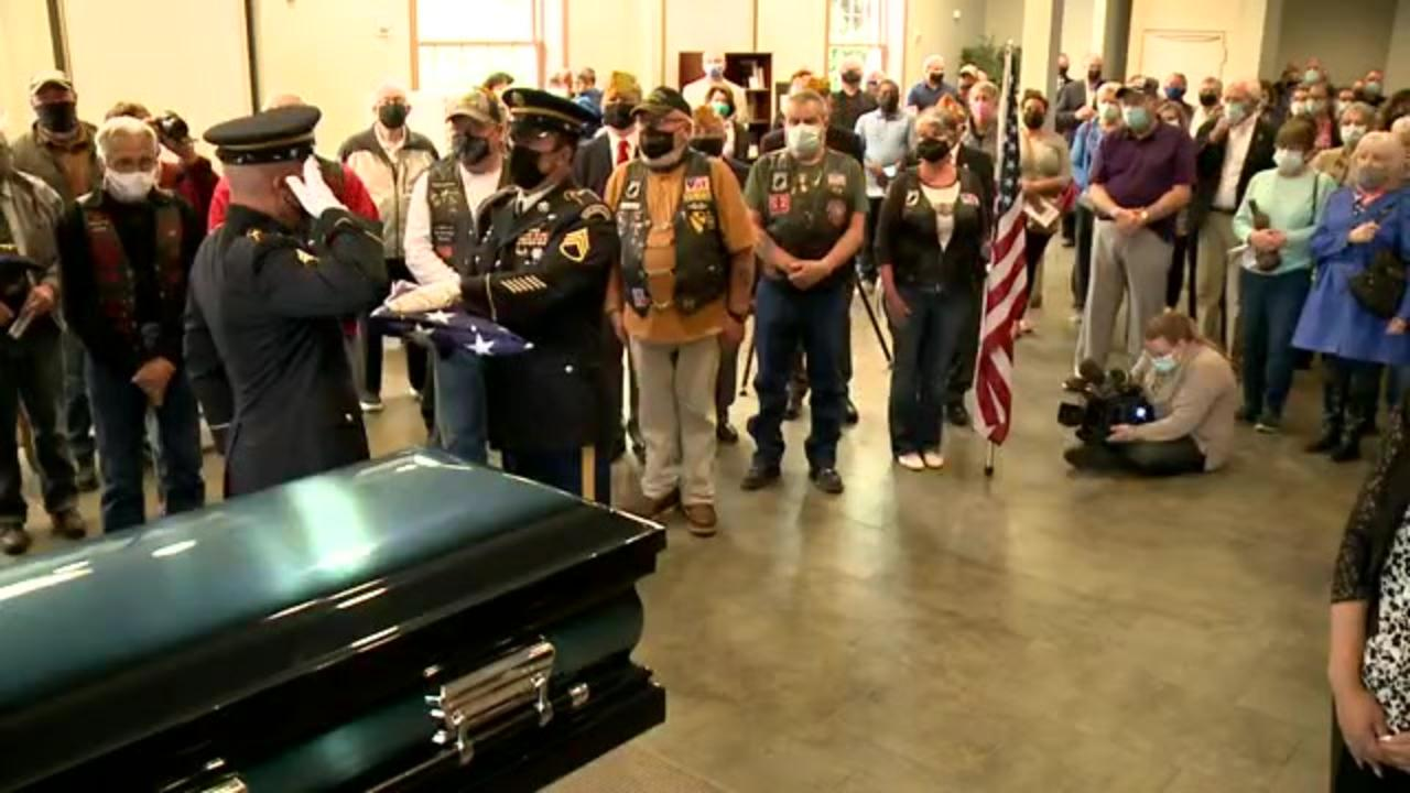 Strangers fill Ohio church to say goodbye to a veteran with no relatives