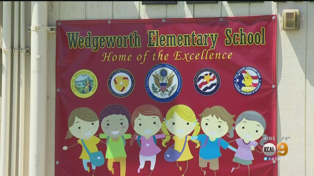 Parents Protest Conditions At Wedgeworth Elementary School In Hacienda Heights