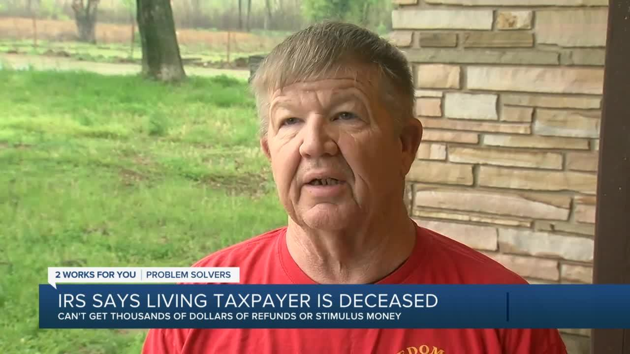 Okla. man says IRS thinks he's dead, won't give him stimulus