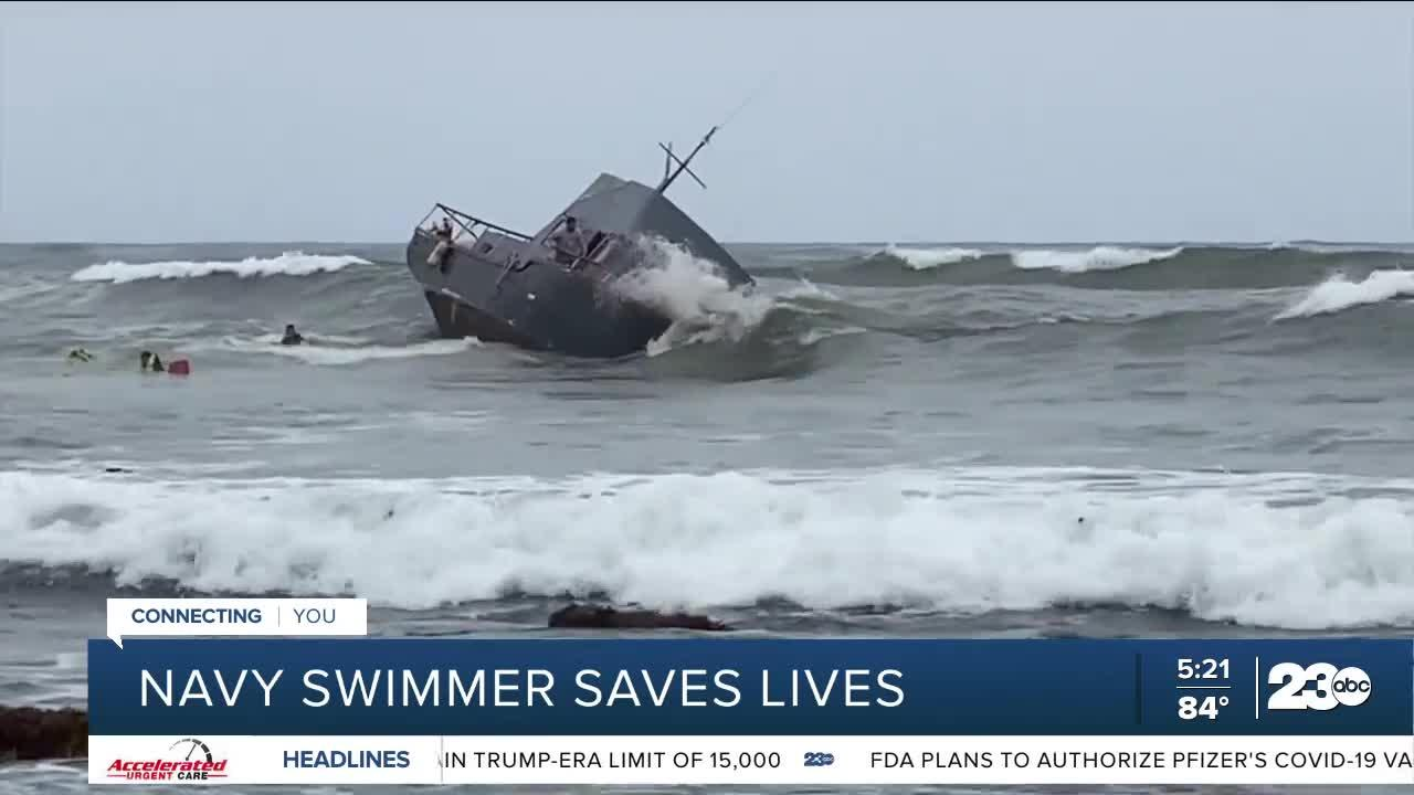 Navy swimmer saves lives
