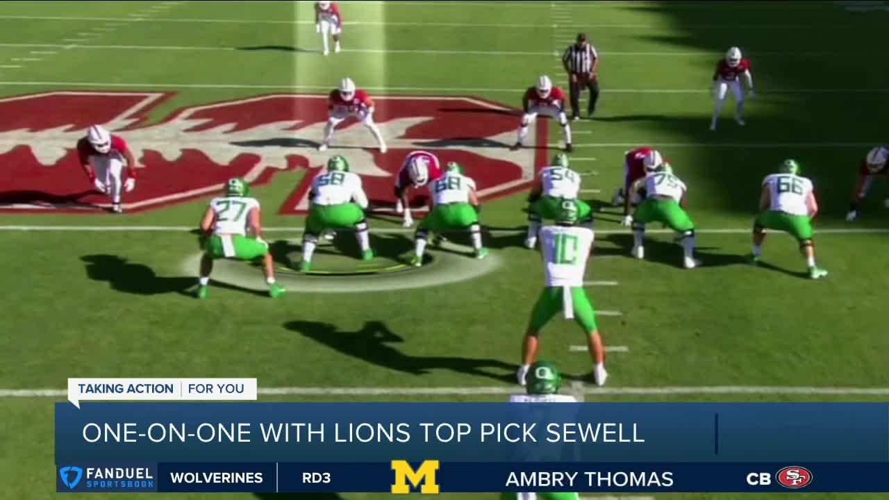 One-on-one with Lions top pick Penei Sewell