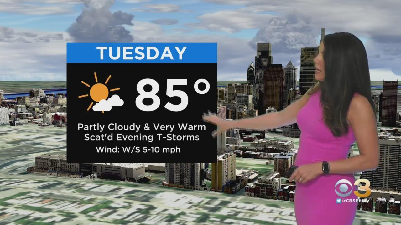 Philadelphia Weather: Staying Warm, Turning Muggy