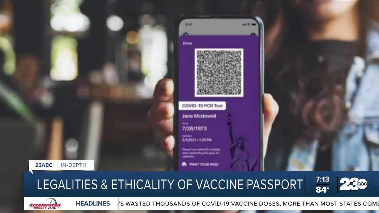 Legalities and ethicality of vaccine passports
