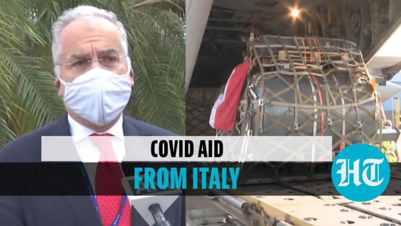 Watch: India receives Covid aid from Italy; EU envoy says focus is on oxygen supply