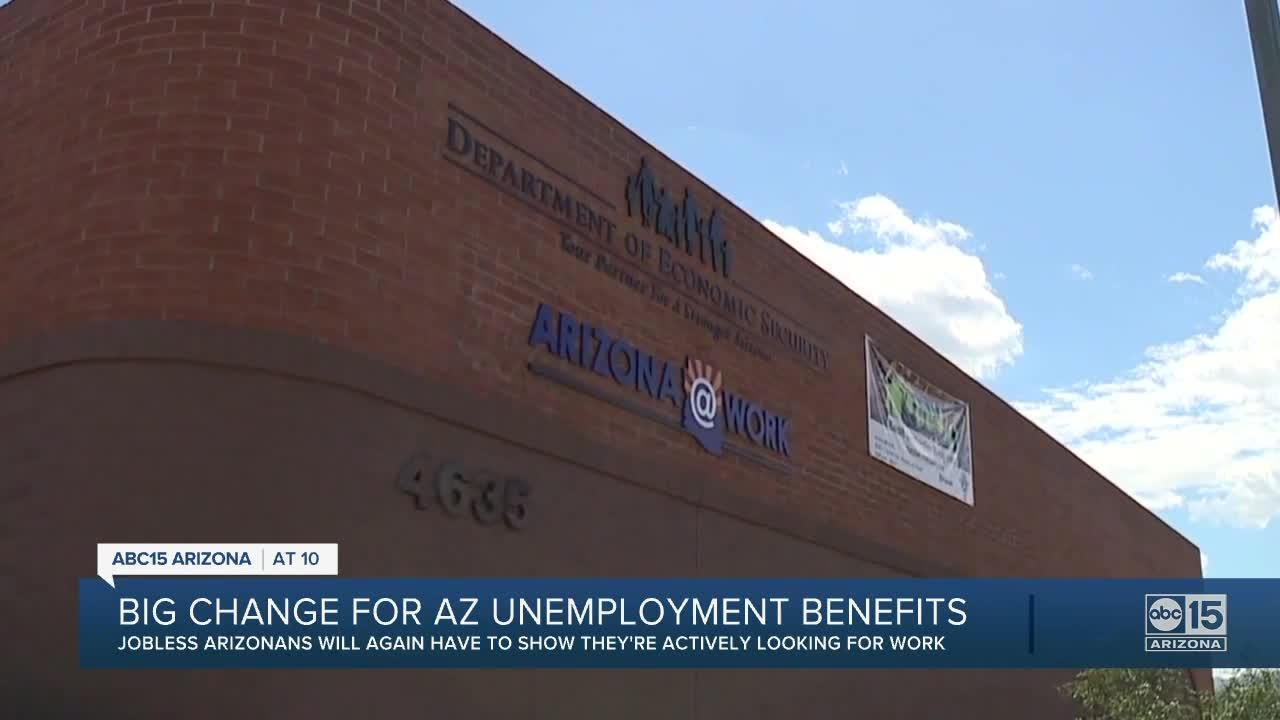 Governor Ducey reinstates requirement of looking for work to get unemployment benefits