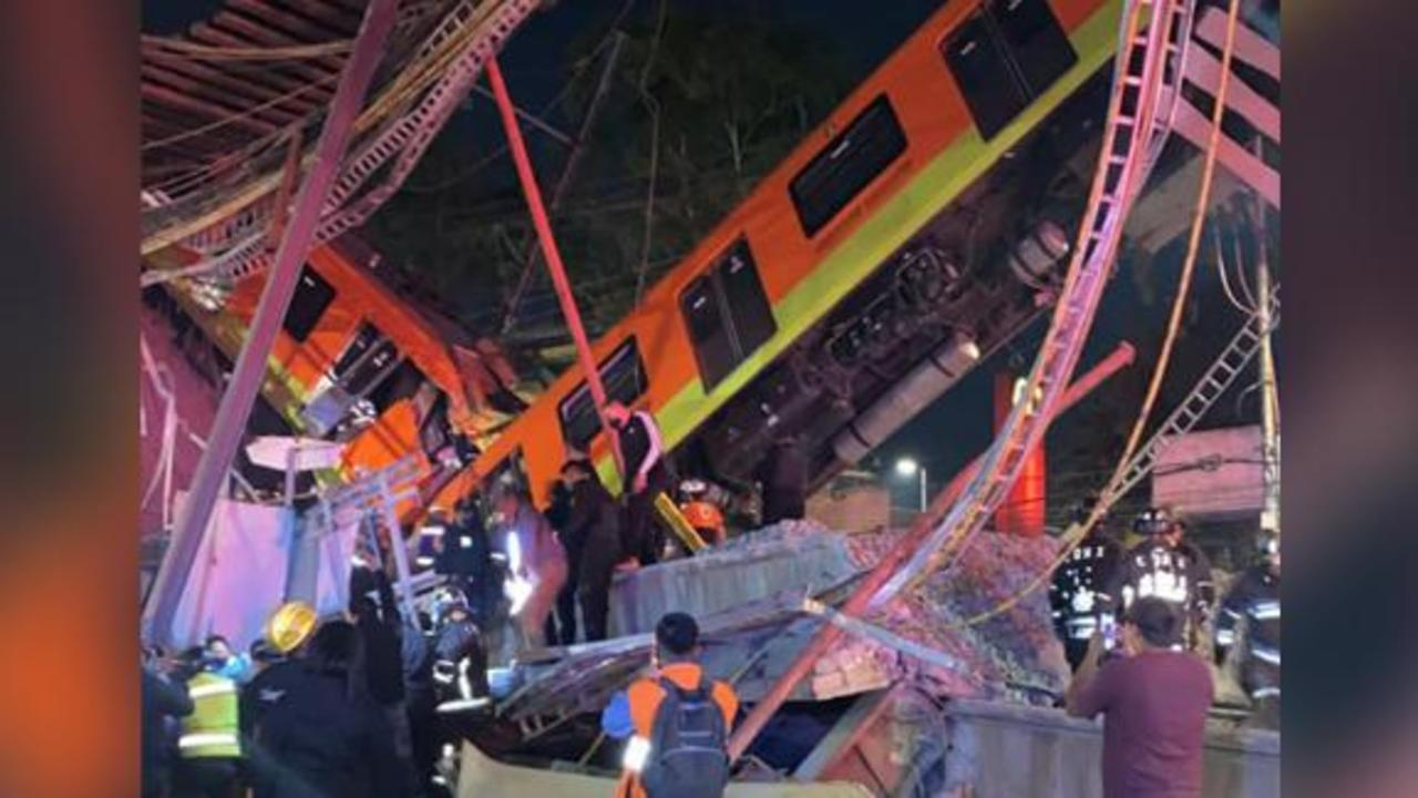 Mexico city mayor: At least 15 killed in subway overpass collapse