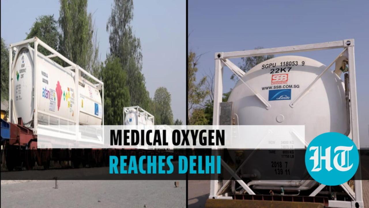 Watch: Oxygen Express with 120 MT liquid medical oxygen arrives in Delhi