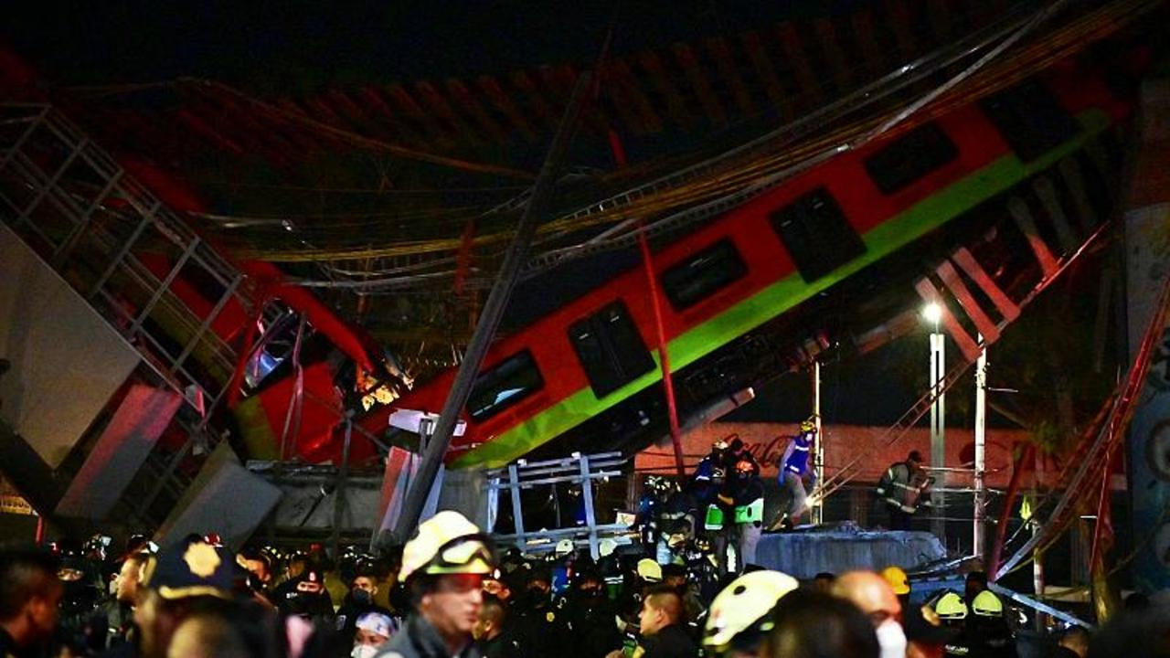 At least 20 dead, 70 injured as Mexico City metro overpass collapses onto road