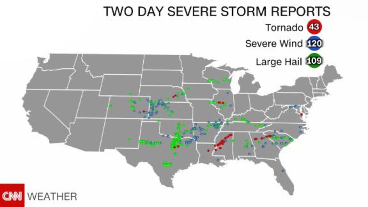 Day three in a multi-day severe weather outbreak
