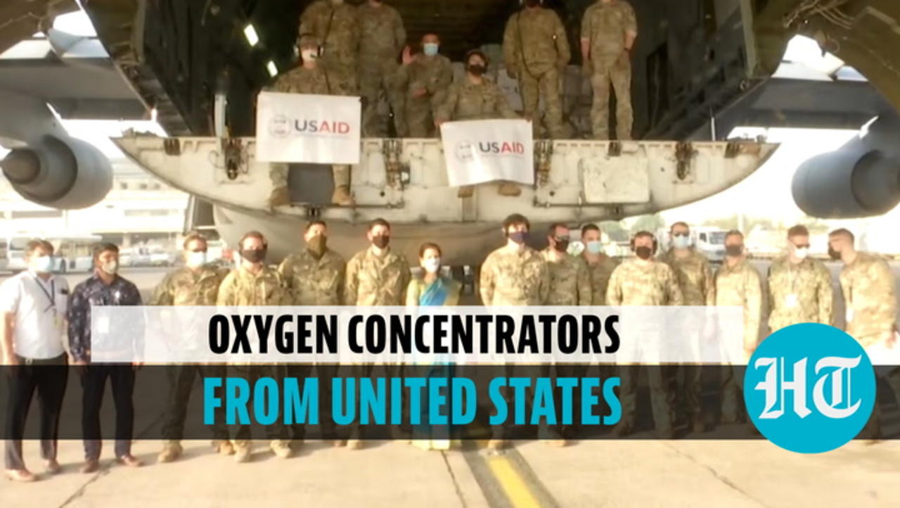 Watch: India receives 5th consignment of 545 oxygen concentrators from United States