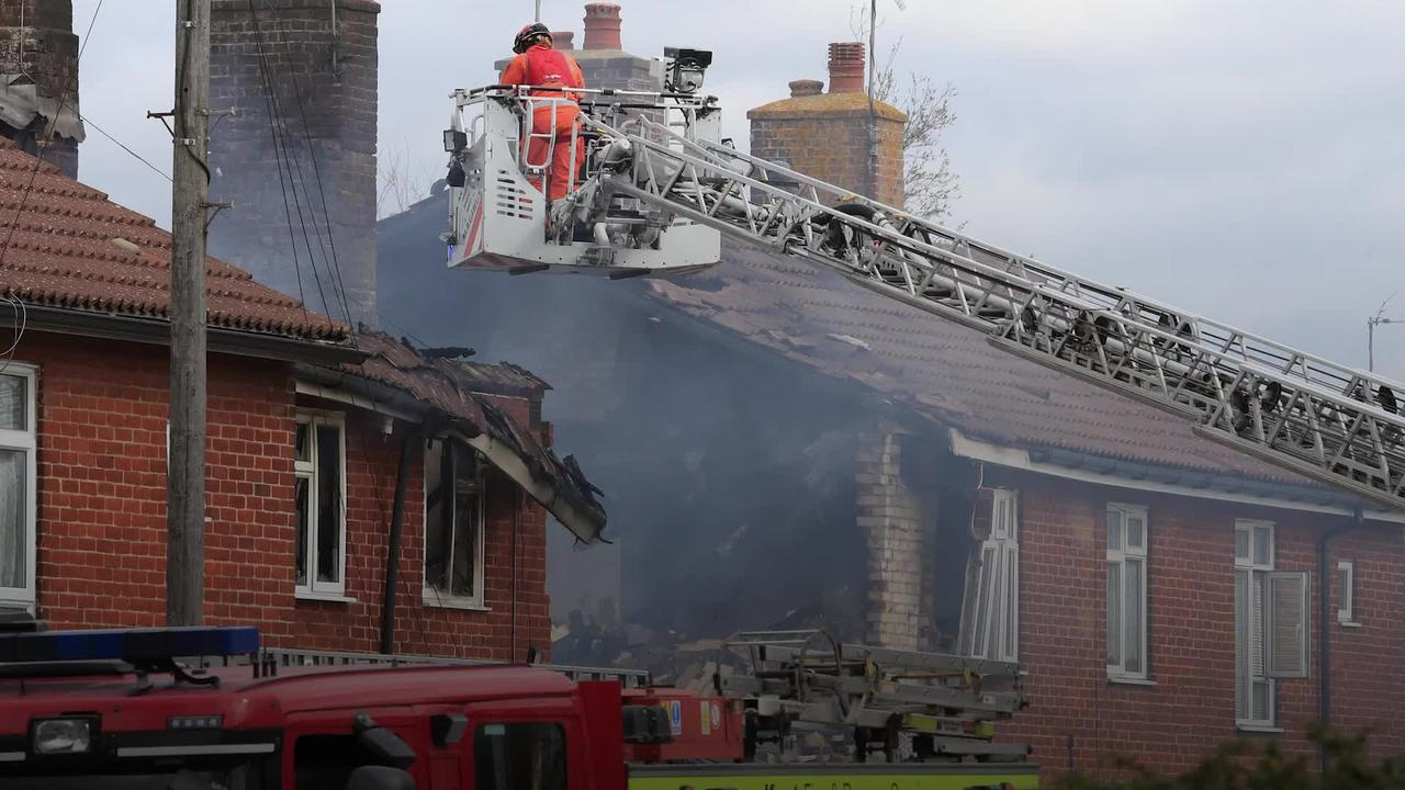 Firefighters tackle blaze following explosion at house in Kent