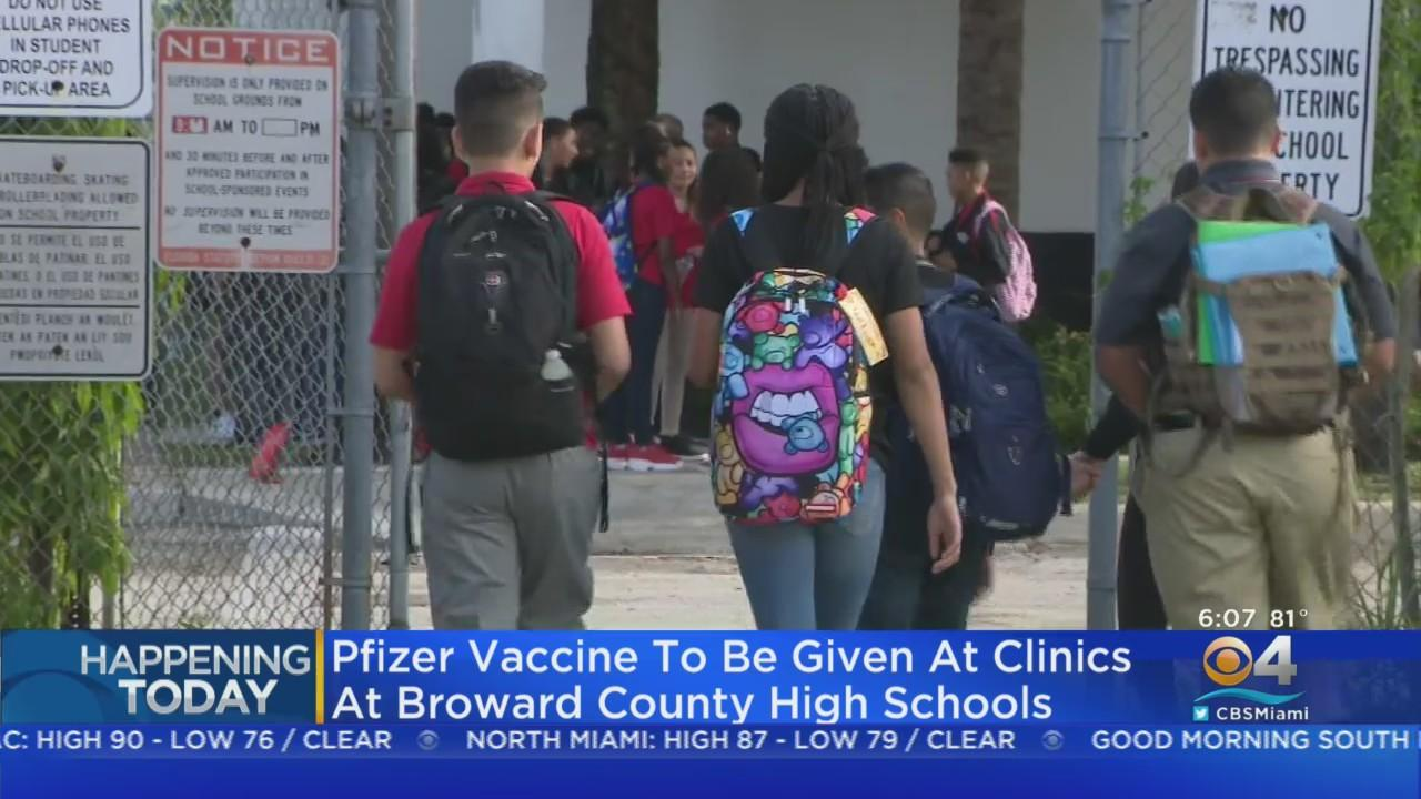 Broward Schools Giving High School Students A Chance To Get Vaccinated