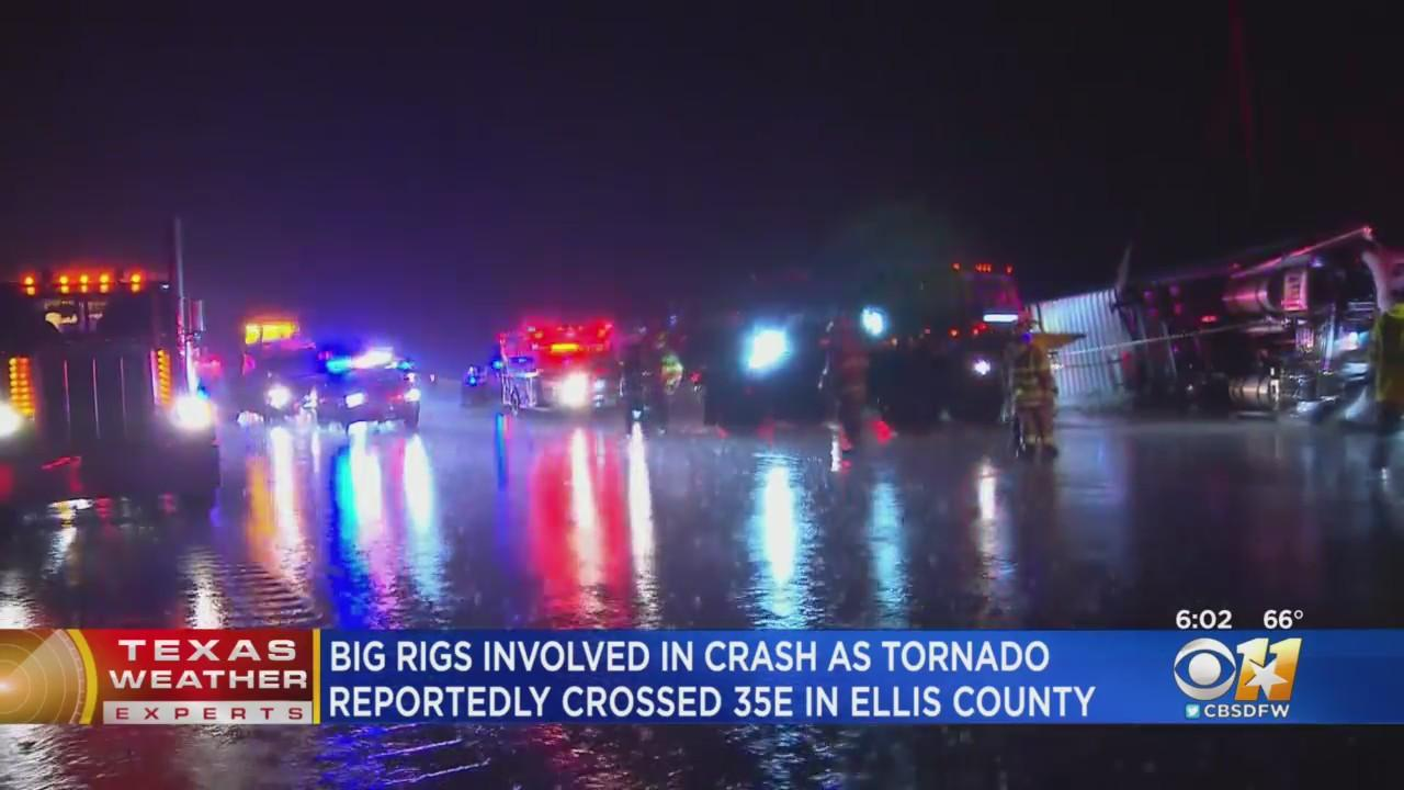 Tornado Possible Cause Of Tractor-Trailer Crash In North Texas