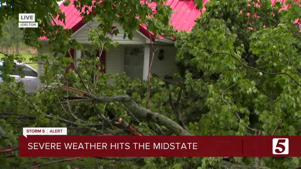 Storm damage from Joelton