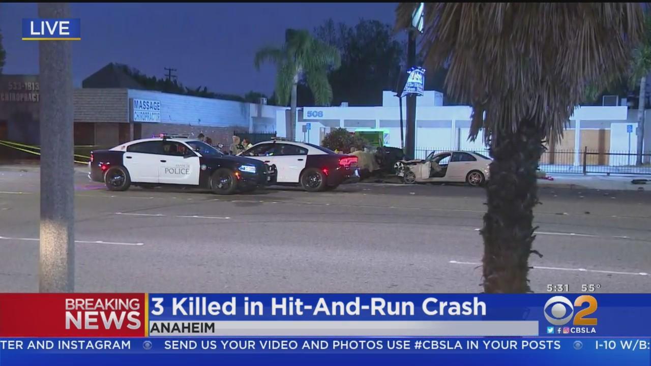 3 Men Killed In Fiery Anaheim Hit-And-Run Crash; Driver Found