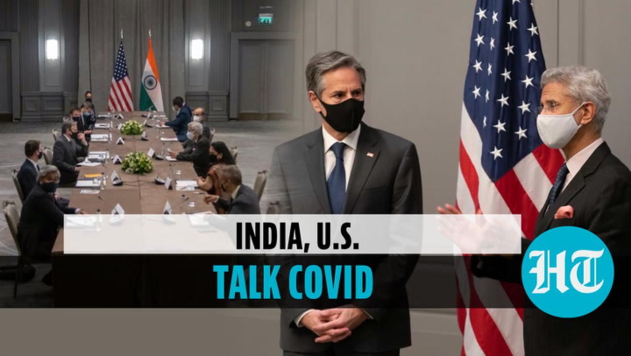 Covid talks: Jaishankar meets Biden aide Blinken in London, discusses vaccine