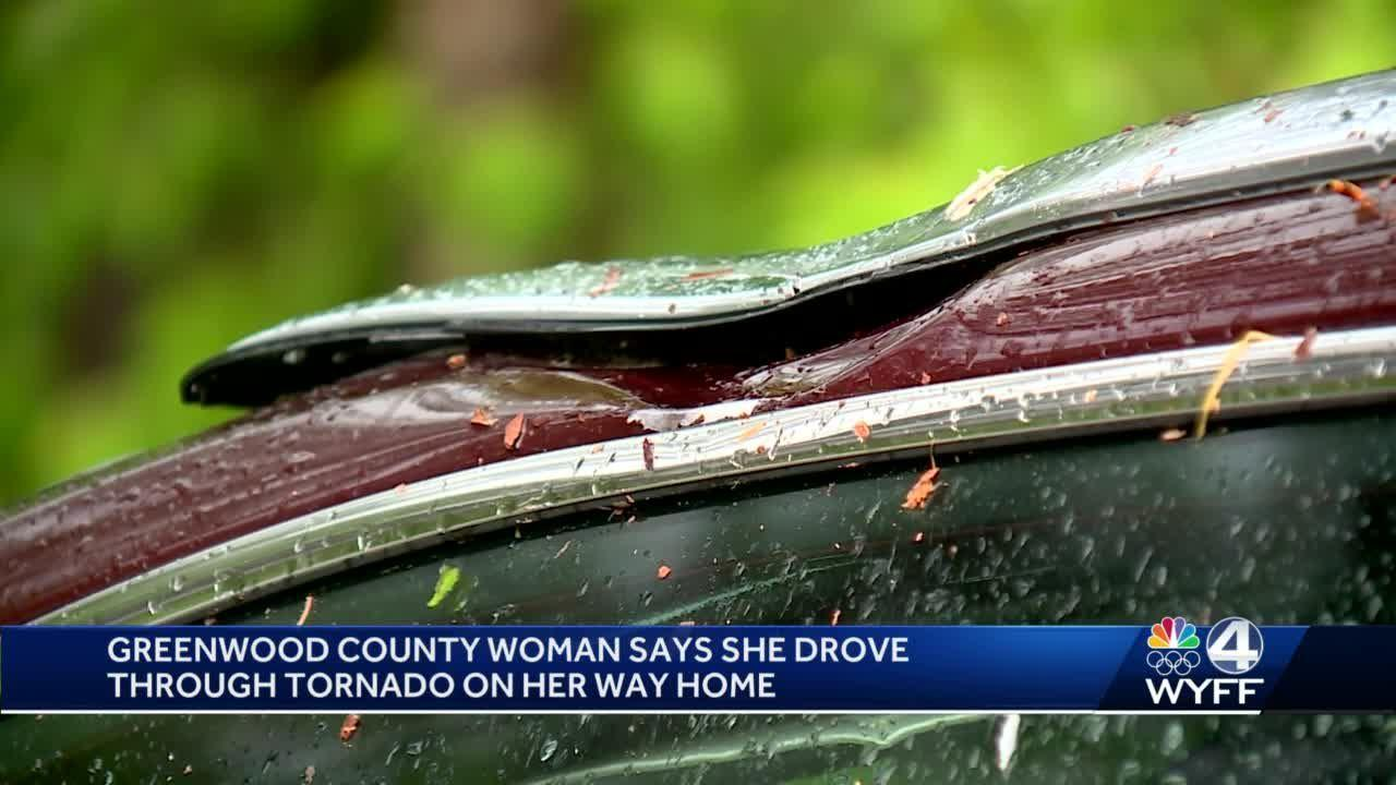 Greenwood County woman believes she drove through tornado