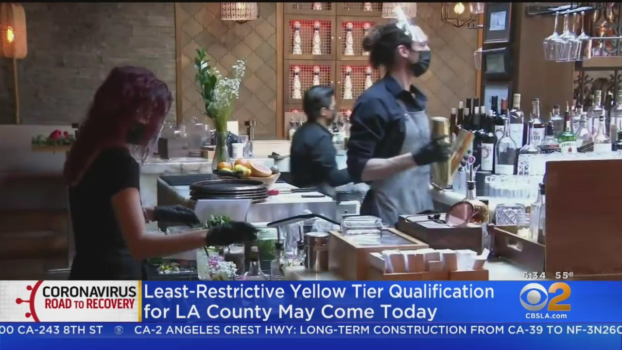 LA County Could Qualify For Yellow Tier Tuesday, Allowing Bars To Reopen Indoor Operations