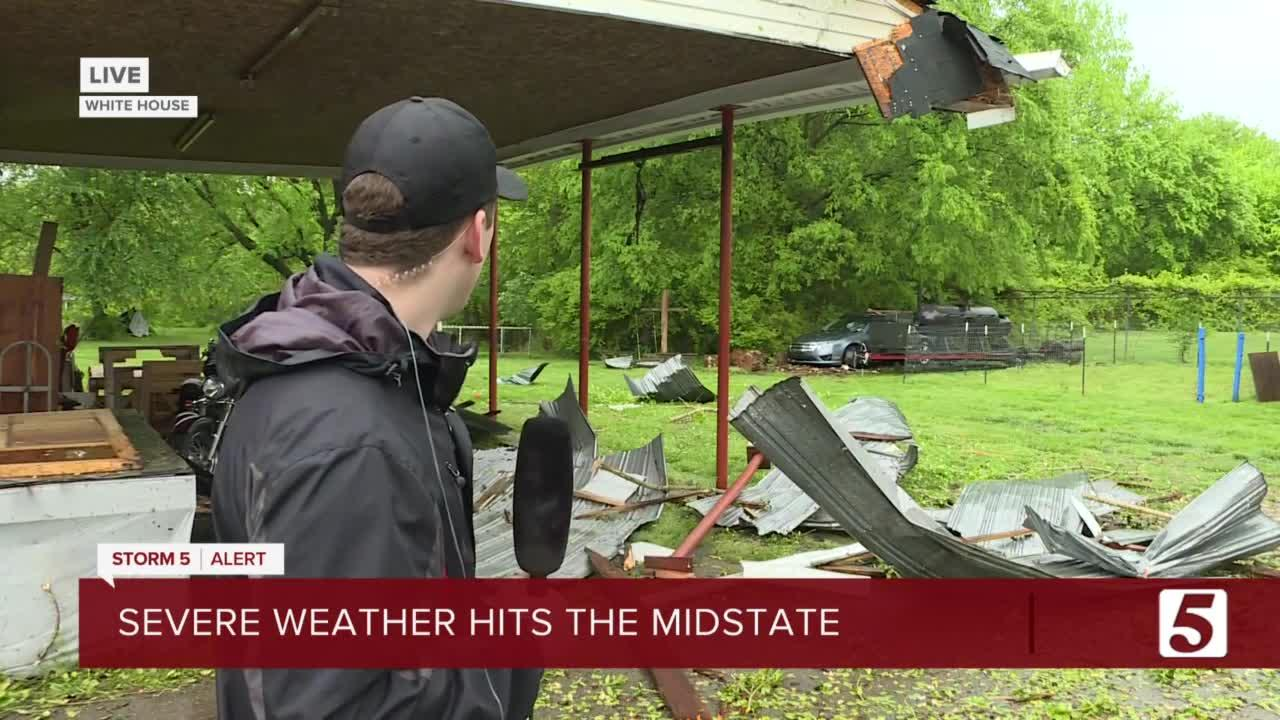 Severe weather hits Mid-State; Damage from White House