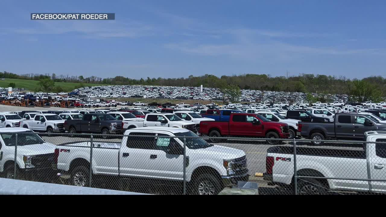Thousands of Ford trucks parked, can't be sold