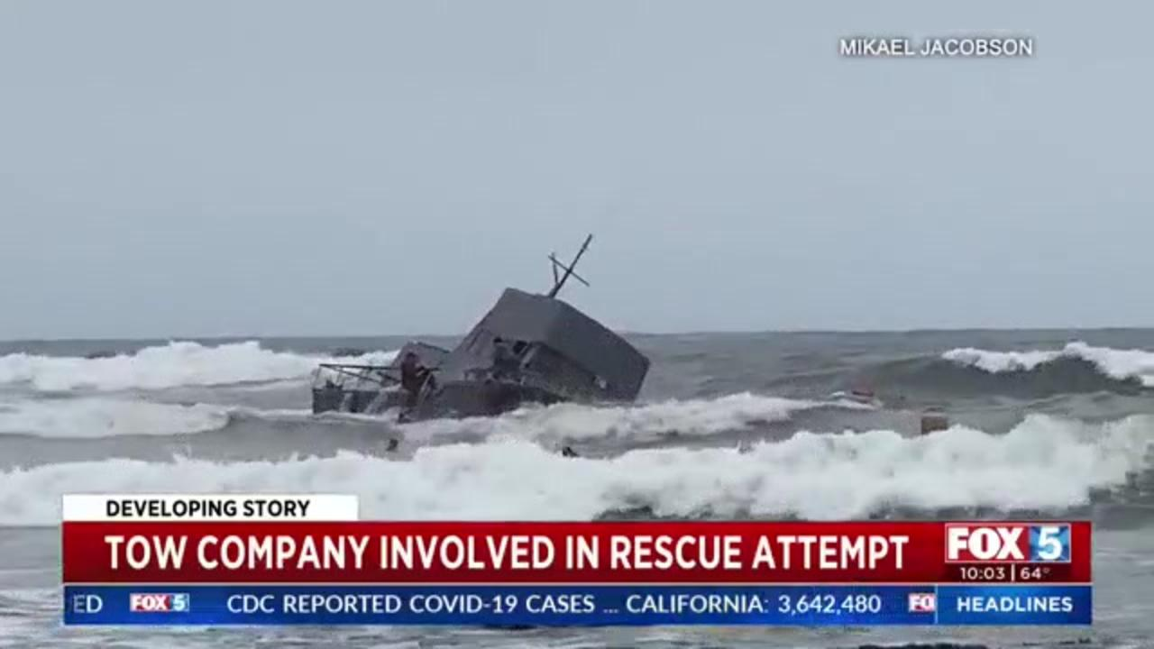 Tow boat operator who responded to California boat capsize says captain demanded they didn't call Coast Guard