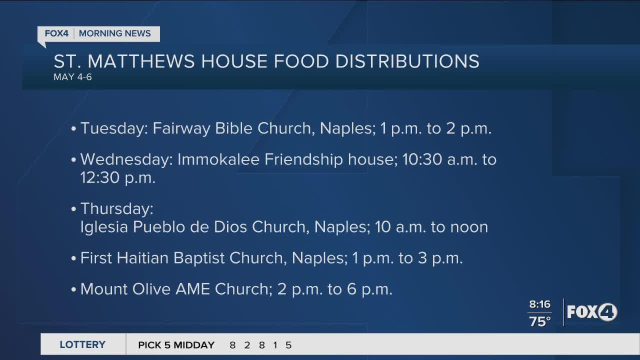 St. Matthews house host food distributions