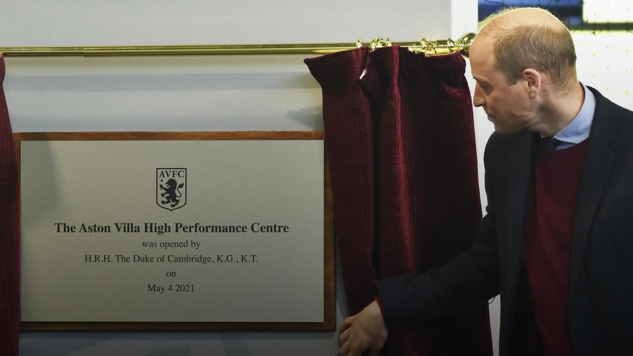 William opens Aston Villa's new training centre