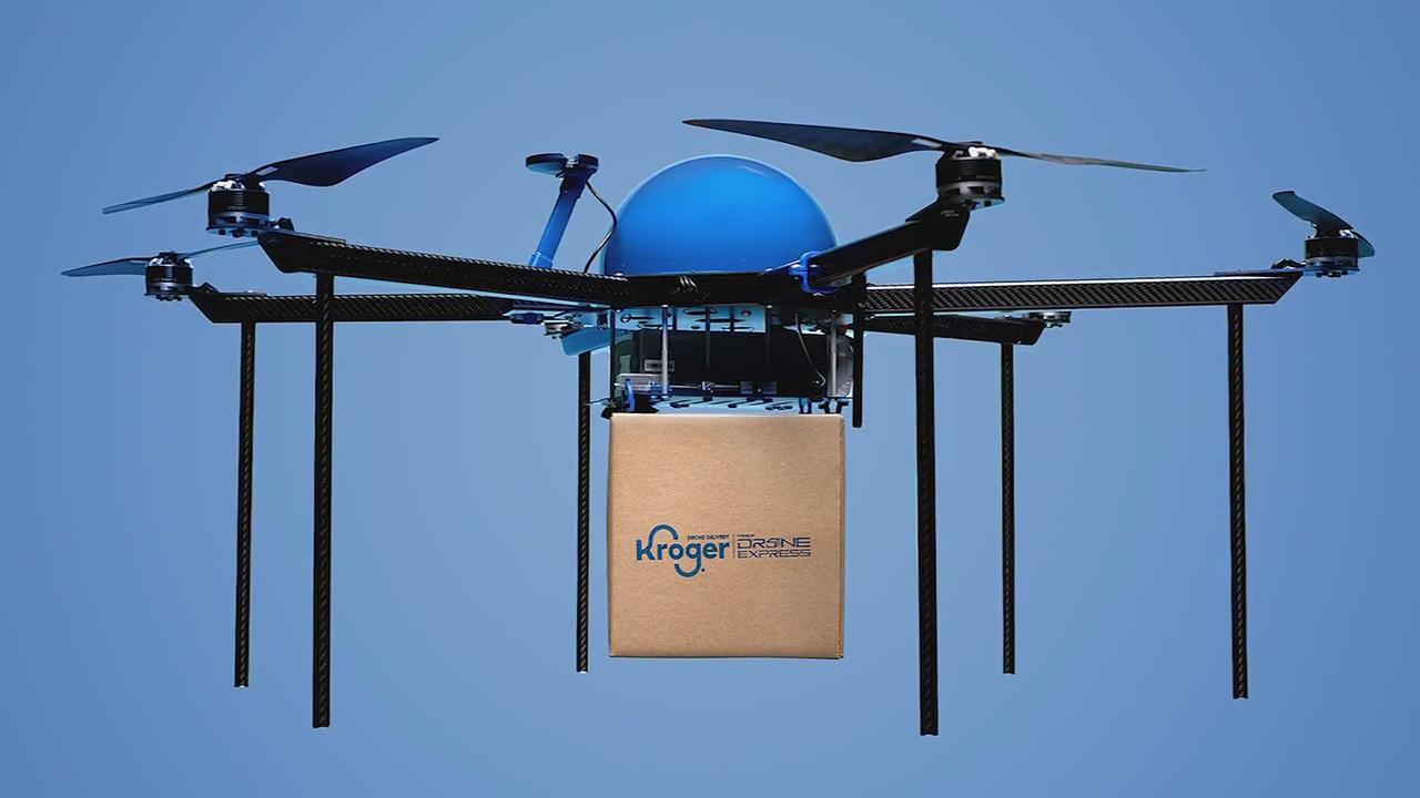Kroger Tests Drone Grocery Delivery