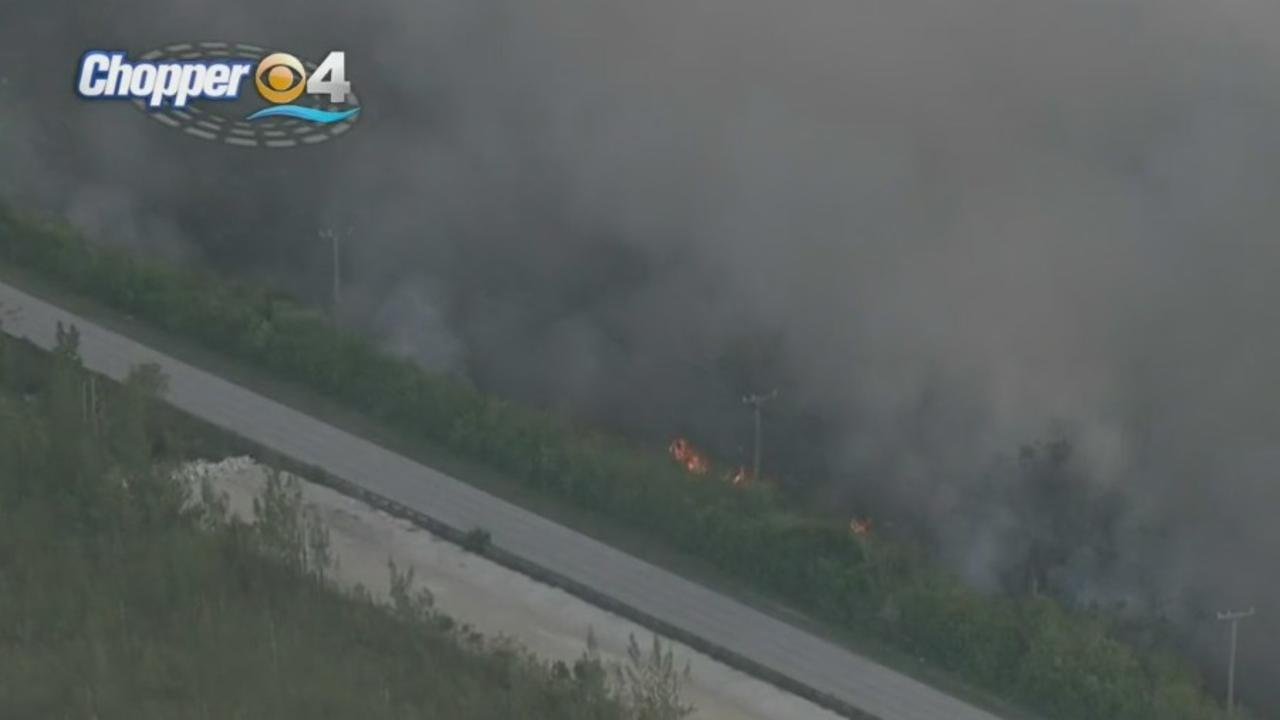 Card Sound Road Still Closed Due To Nearby Brush Fire