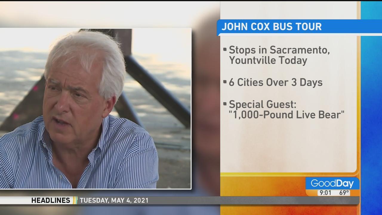 John Cox Embarking On Bus Tour