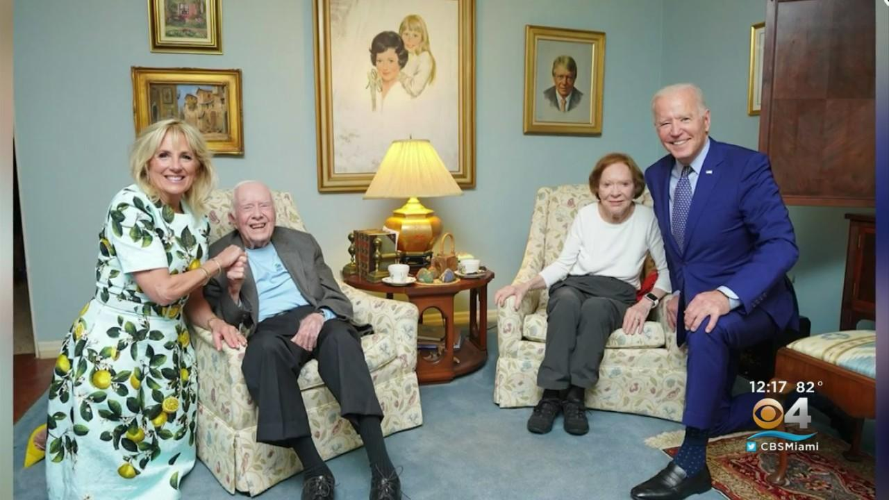 Bidens Pay Visit To Carters