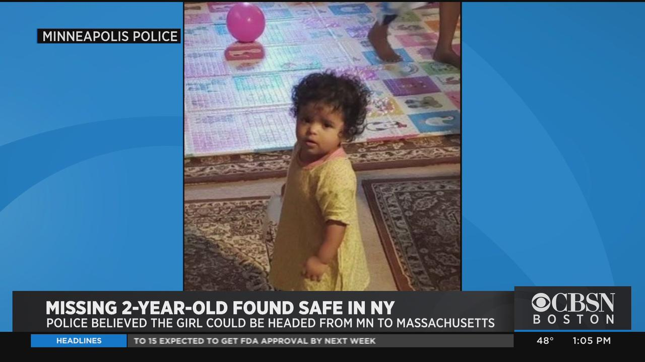 Missing 2-Year-Old Minnesota Girl Found Safe After Police Said She May Have Been On Way To Mass.
