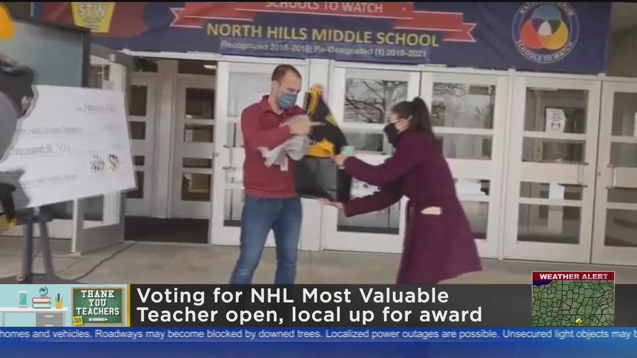 North Hills Middle School Teacher Named Finalist For NHL's MVT Award