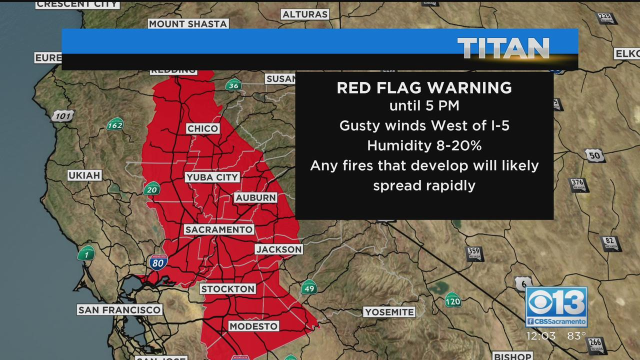 Red Flag Warning In Effect Through Tuesday Afternoon