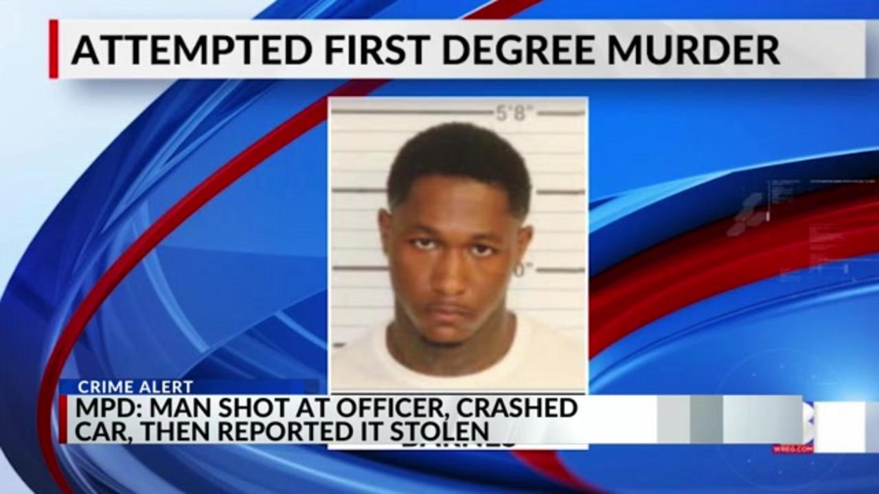 Man shot at officer, crashed car into cruiser, then reported it stolen, police say