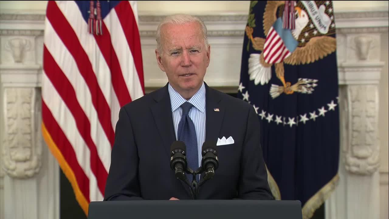 Biden announces new COVID-19 vaccination goal by 4th of July