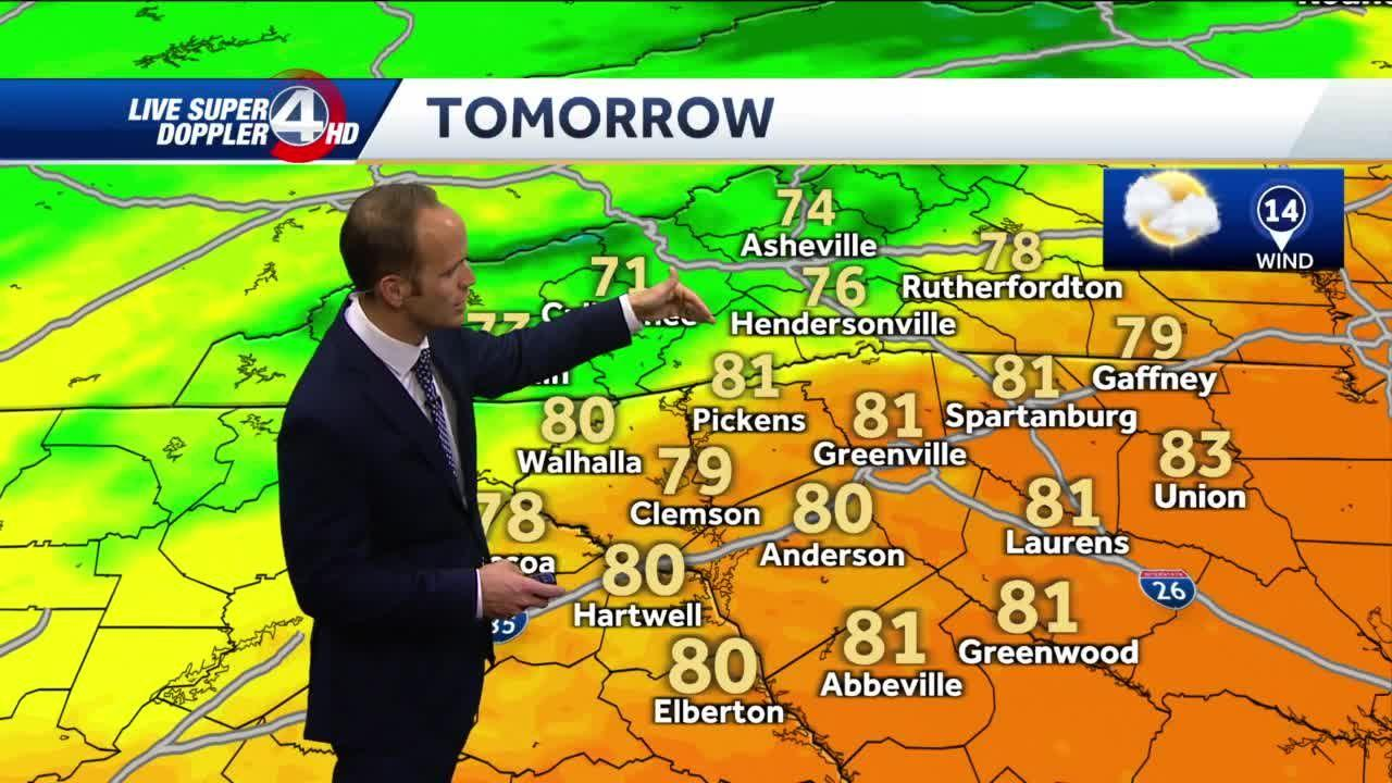 Evening rain, clearing and windy Wednesday