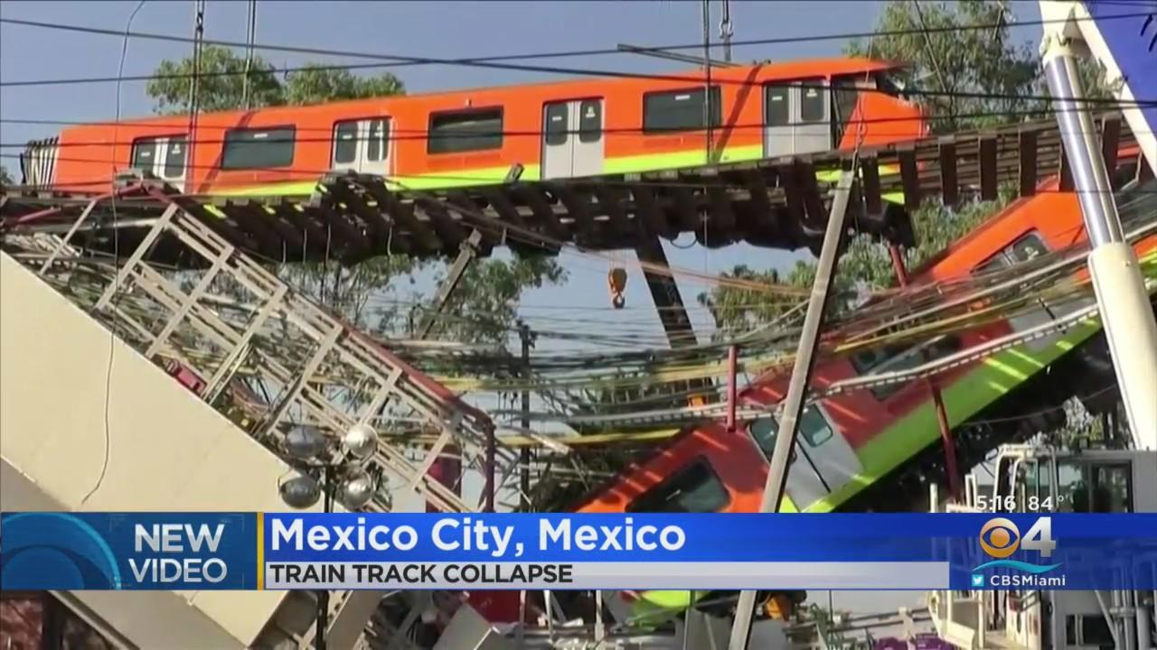 Train Plunges To Ground After Metro Overpass Collapses In Mexico City