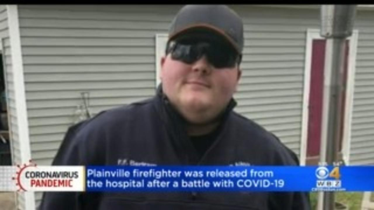 Plainville Firefighter Returns Home From Hospital After Long Battle With COVID-19