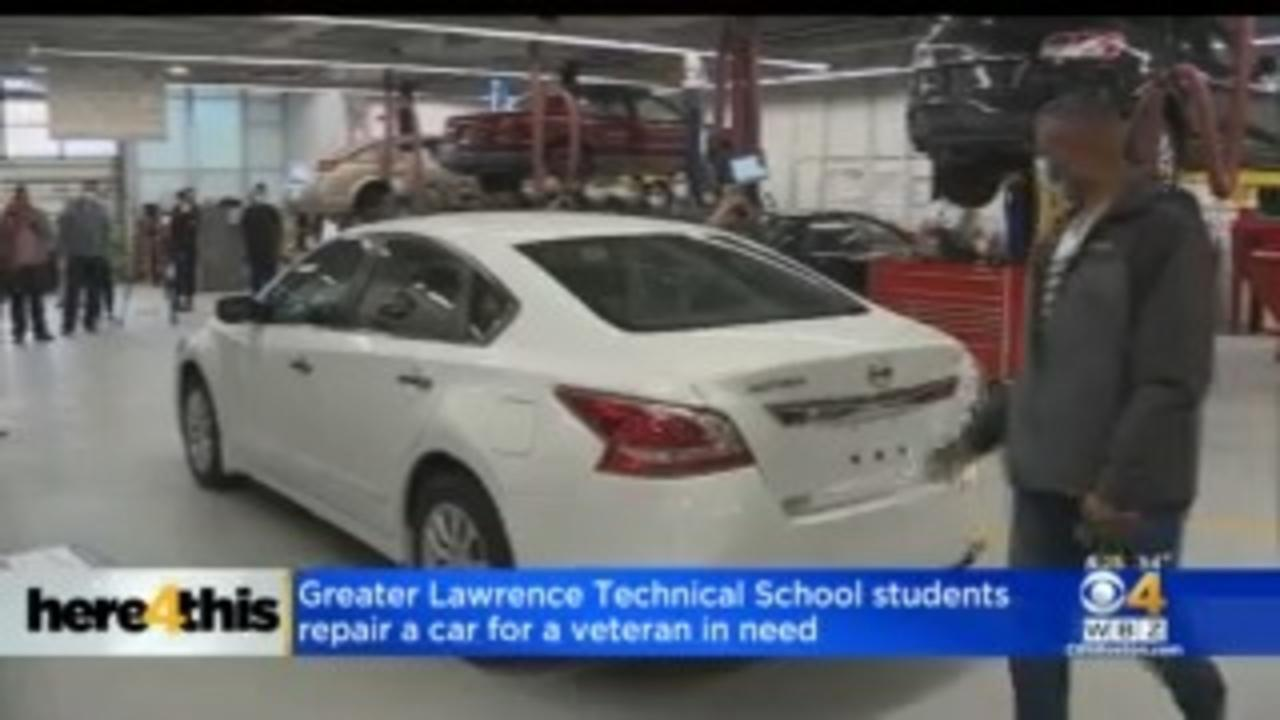 Greater Lawrence Technical School Students Repair Car For Veteran In Need