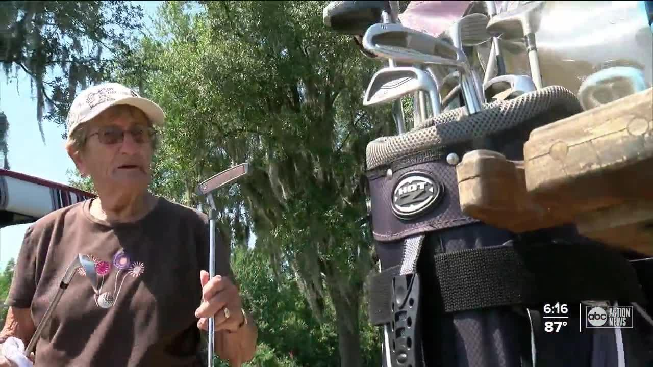 'Oh yeah, it felt good': 90-year-old Lakeland golfer scores her second-ever hole-in-one
