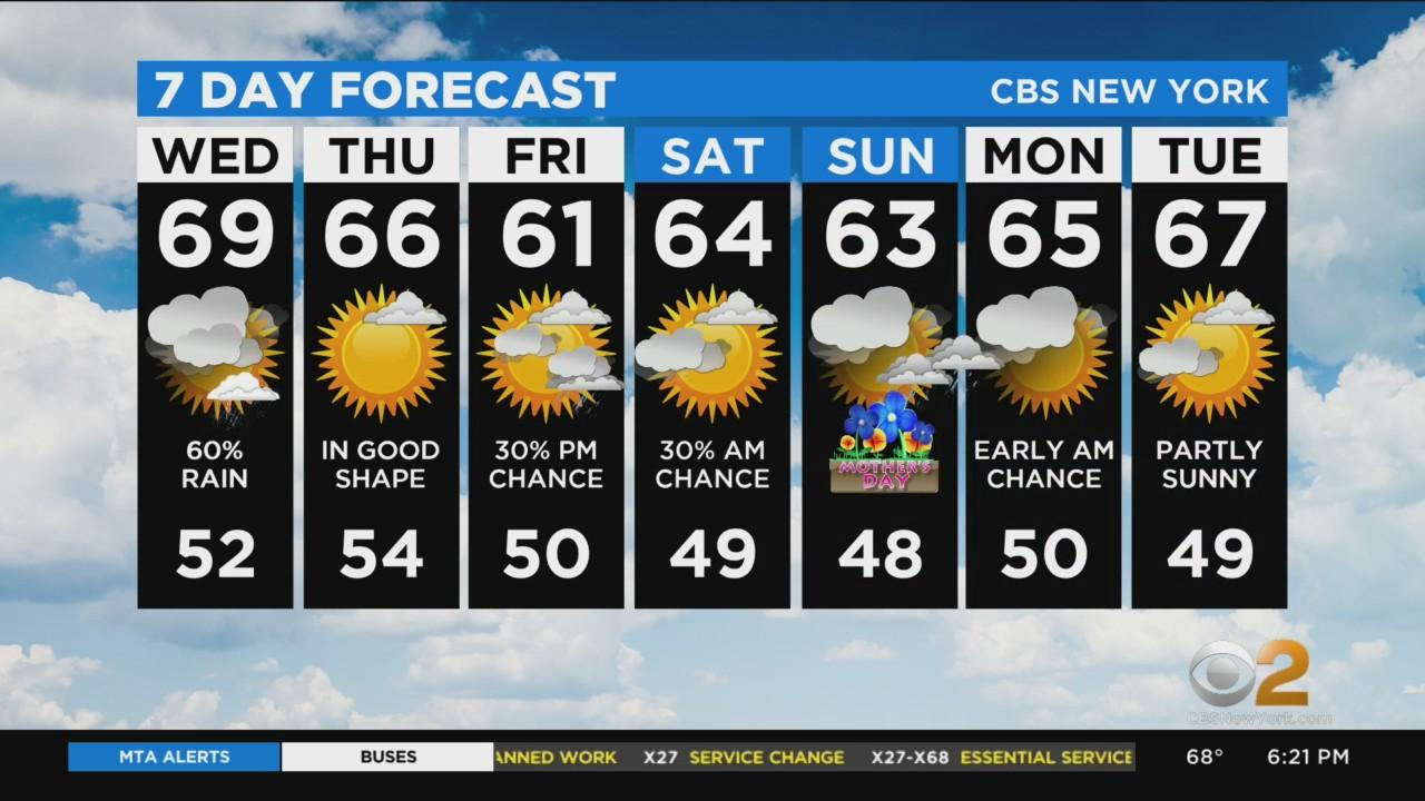 New York Weather: CBS2 5/4 Evening Forecast at 6PM