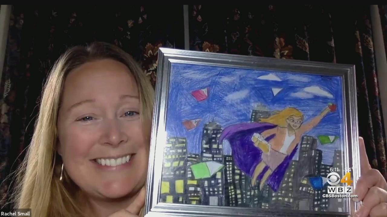 Burlington Student Surprises Teacher With Superhero Painting