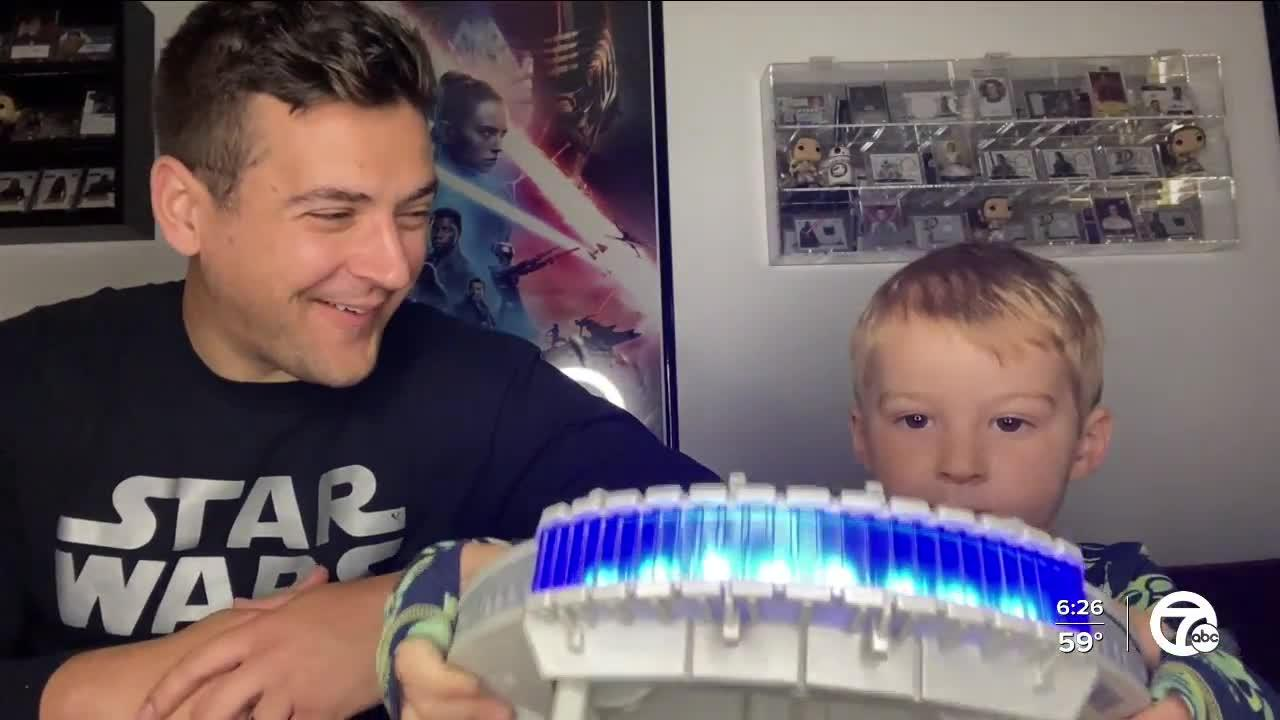 Star Wars Day: Brad Galli and son Matthew celebrate May the Fourth