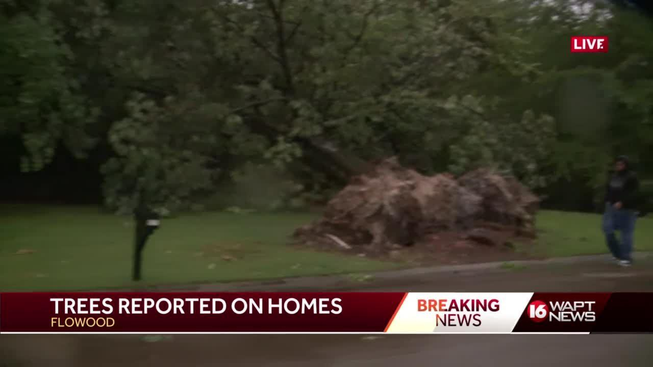 Storms produce damaging winds, widespread power outages, downed trees