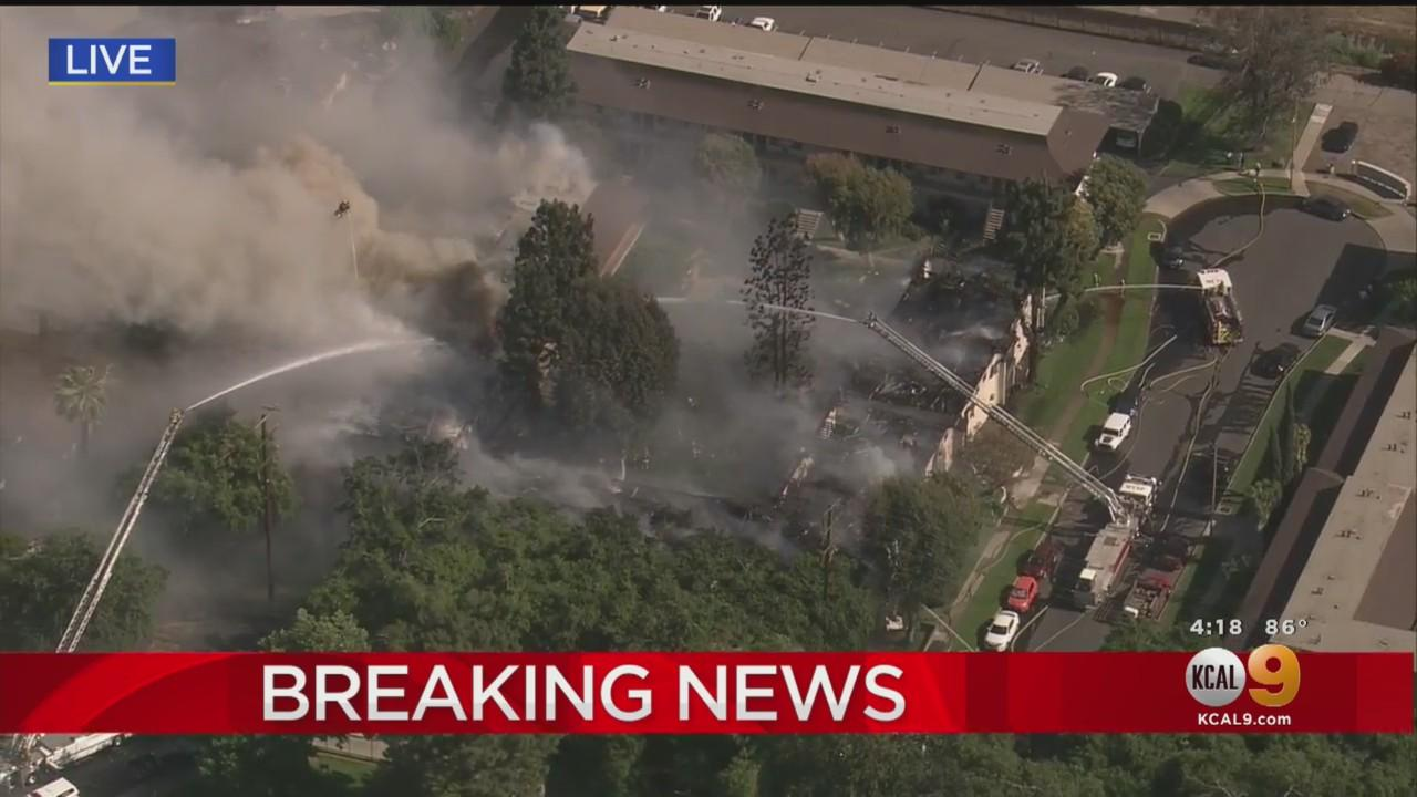 Fire Crews Battle 3-Alarm Fire At Upland Apartment Complex