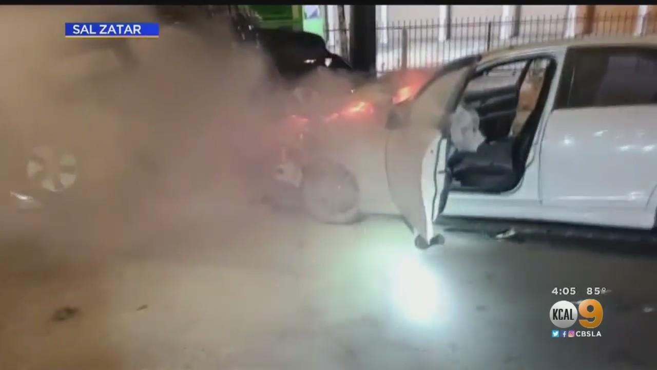 New Security Video Shows Violent Crash In Anaheim That Left 3 Dead