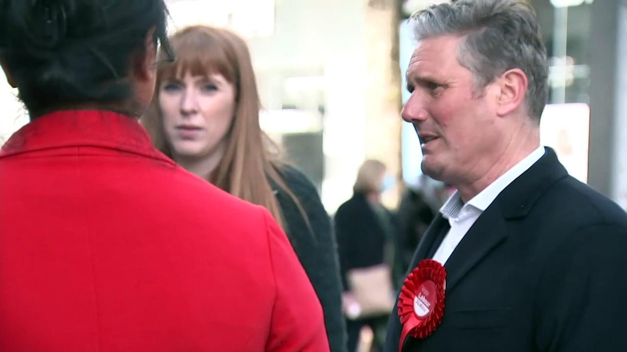 Keir Starmer and Angela Rayner campaign in Birmingham