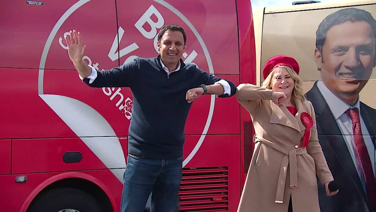 Anas Sarwar joined by Gordon Brown on campaign trail