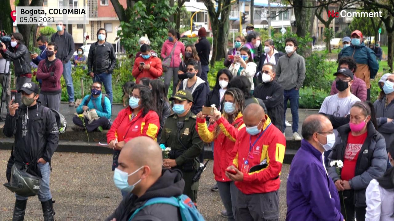 Bogota Philharmonic Orchestra holds street concert for 'peace' amid unrest